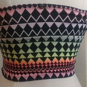 PINK Victoria's Secret Intimates & Sleepwear - Victoria's Secret geometric multi-neon bandeau.